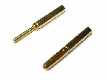 Bullet connector 0,8mm - 1 pair